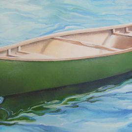"Restoration, oil on canvas, 18"" x 36"", $750"