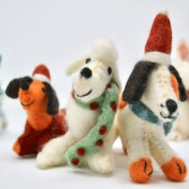 view of a variety of soft toys