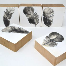 5 pieces of feather objects