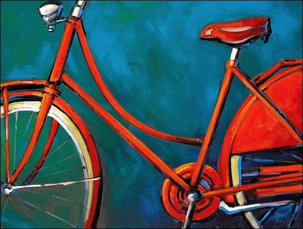 Bike On Blue, 30″ x 40″, $1600